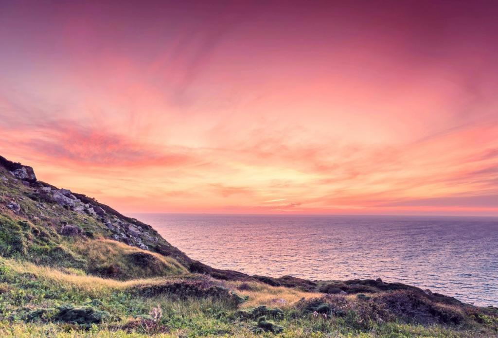 Costa Verde tramonto